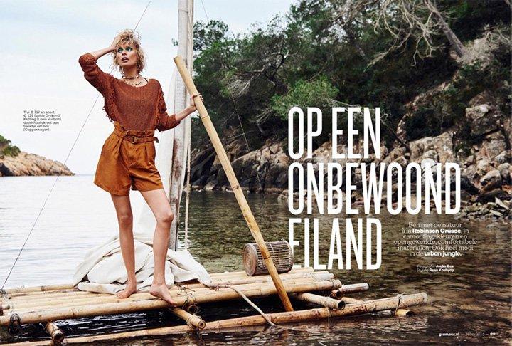 Inguna Butane《Glamour》荷兰版2016年6月号