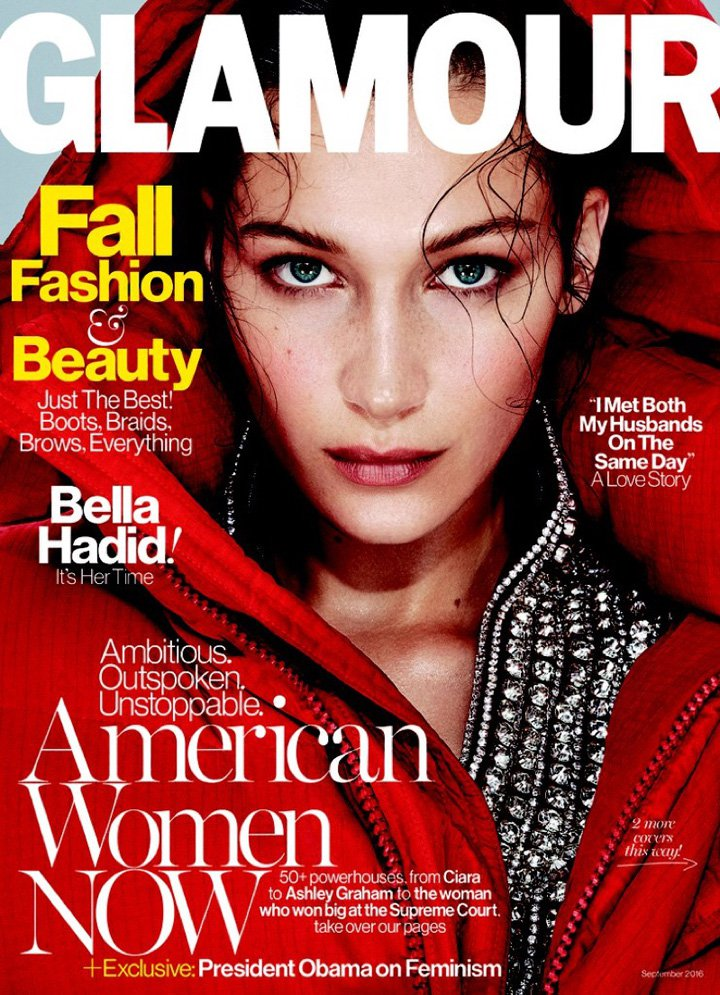 Bella Hadid《Glamour》美国版2016年9月号