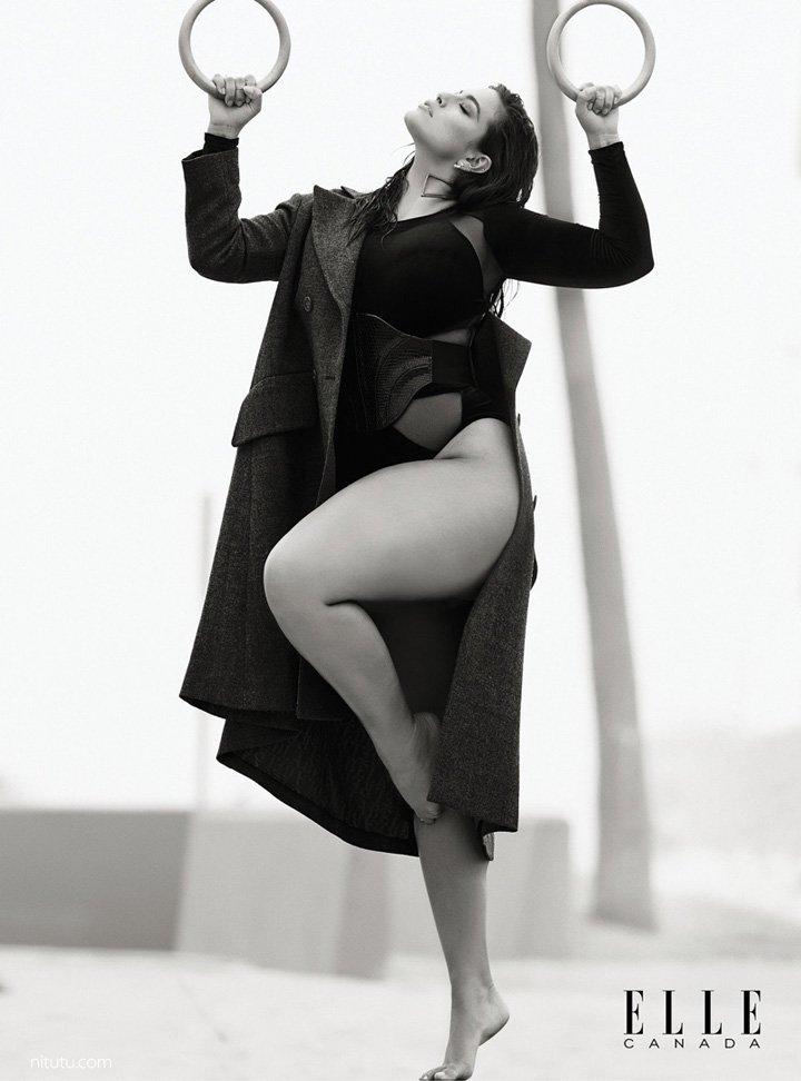 Ashley Graham《Elle》加拿大版2016年10月号