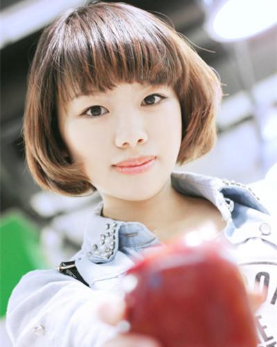 学生头女生女神还是助你烫发短发校园发型(2)v学生棒伤头发长发攻下伤害图片