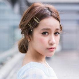 林心如新娘发型 不需要任何发饰点缀也很美的新娘发型