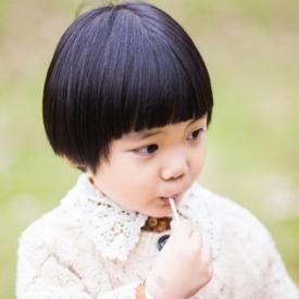 女儿童短发发型图片 七款超萌的女宝宝短发