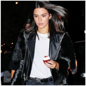 Kendall最新街拍  皮衣mix皮草 帅气又奢华