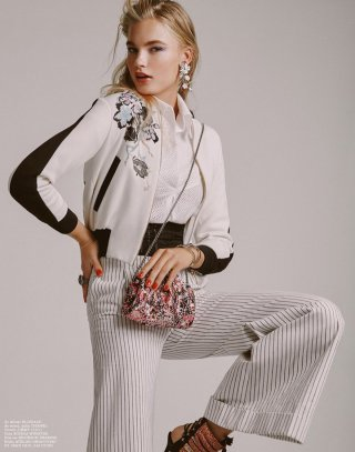 模特Isabel Scholten 演绎《Elle》时尚杂志大片