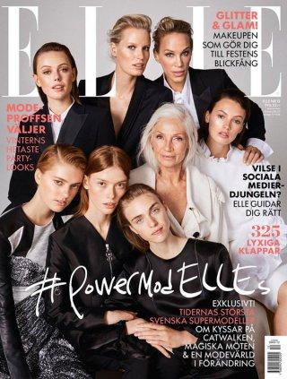 17位瑞典历史上最著名的超模齐聚共同演绎《Elle》时尚杂志大片
