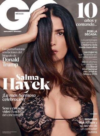 影星Salma Hayek 演绎《GQ》时尚杂志写真大片