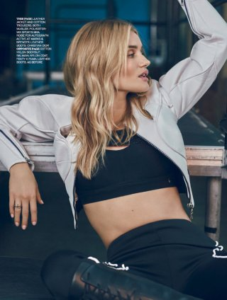 超模 Rosie Huntington-Whiteley演绎 Elle时尚杂志大片