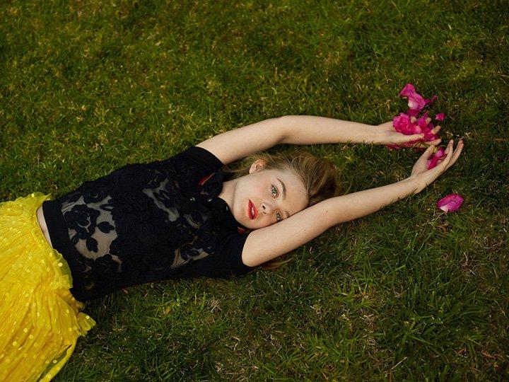 Elle Fanning《Elle》英国版2017年2月号