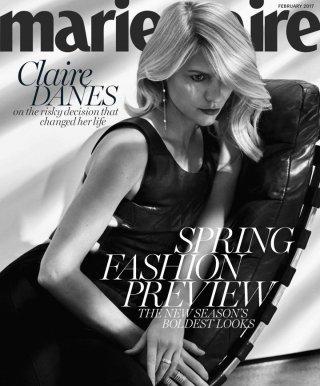 女星Claire Danes演绎Marie Claire时尚杂志大片