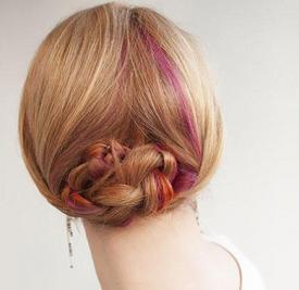 韩式盘头发的方法图解 优雅盘发你值得拥有