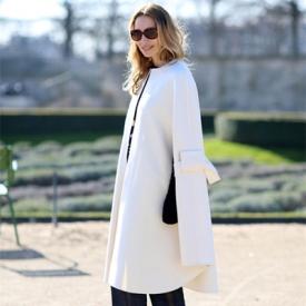 白色大衣营造气质搭配 时髦精教你寒潮优雅出高度