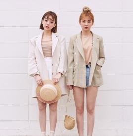 韩版西装搭配图片女 干练少女范儿十足