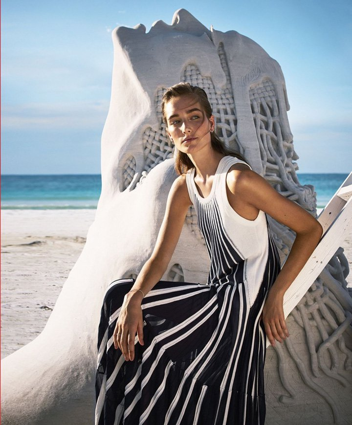 Josephine le Tutour《Harper's Bazaar》美国版2017年4月号