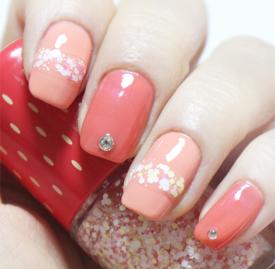 草莓亮片美甲教程 香甜可口草莓控