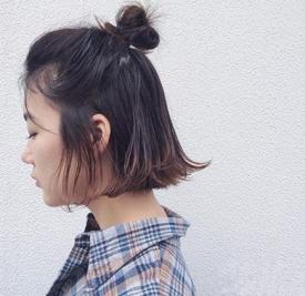 半丸子头短发发型图片 短发妹子千万别错过