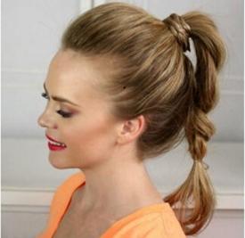 高马尾麻花辫的编法图解 让你做个与众不同的马尾女孩