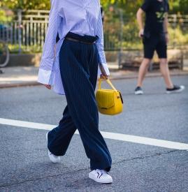 拖地裤上衣搭配图片 尽显气场和气质