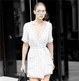 裹身裙搭配图片 女孩与女人的距离就差一条裹身裙