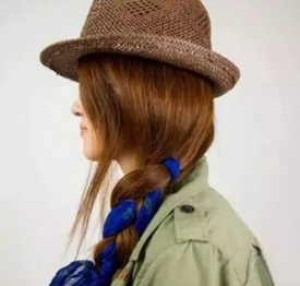 头发怎么扎好看 日系又时髦的丝巾发型助你赚足回头率