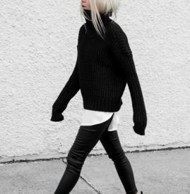All black什么意思 让全黑穿搭也要有质感和层次