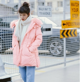 粉色羽绒服搭配图片 打造专属冬日的甜美浪漫