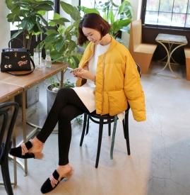 黄色棉袄搭配图片 为你的冬天注入更多活力