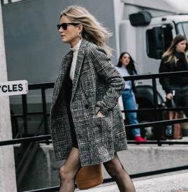 格子外套搭配图片 穿出你知性独立的气质