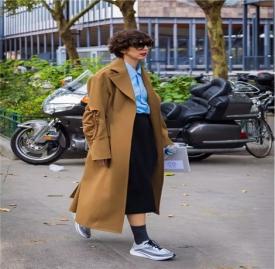 大衣与球鞋搭配图片 大衣与球鞋的完美搭配方案