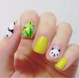 熊猫法式美甲教程 最可爱的国宝哦