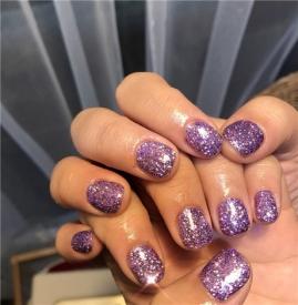 2018紫色美甲图片 2018流行色了解一下