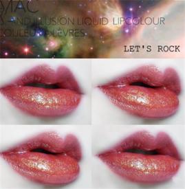 Mac唇釉let's rock试色 流行金属唇了解一下