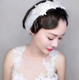 新娘短发造型图片 这几款非常美丽