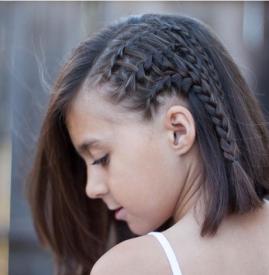 给女儿扎的简单发型短发 夏天就该扎这七款