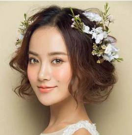 短发新娘造型图片2019