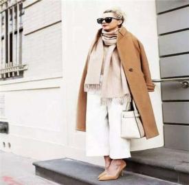 大衣与围巾搭配图片 大衣与围巾完美搭配方案