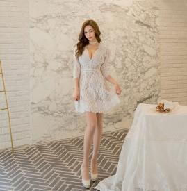 蕾丝连衣裙搭配鞋子图 蕾丝连衣裙搭配图片