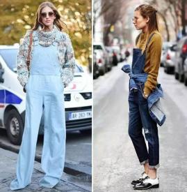 背带裤怎么搭配衣服