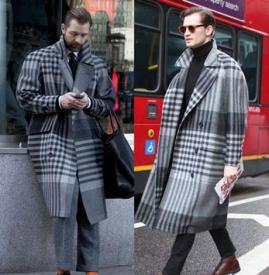 男士格纹大衣 男士格纹大衣怎么搭配