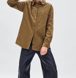 灯芯绒衬衫搭配 蓝色灯芯绒衬衫搭配