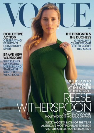 Vogue 2019年2月刊时尚杂志摄影图片 影星Reese Witherspoon出镜演绎