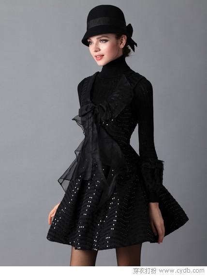 超美款毛呢裙与大衣