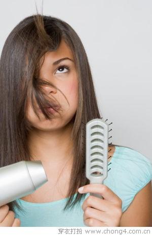 不损发质的吹发6步骤