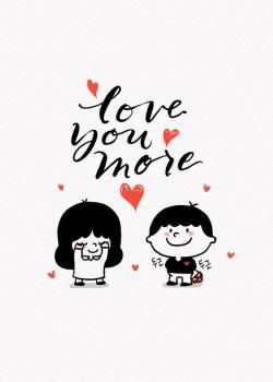 可爱卡通情侣爱情图片安卓锁屏壁纸