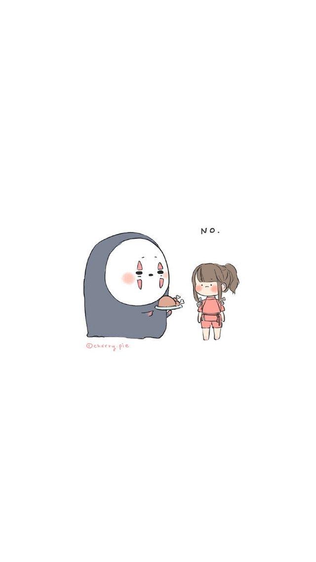 宫崎骏动漫人物插画高清手机壁纸
