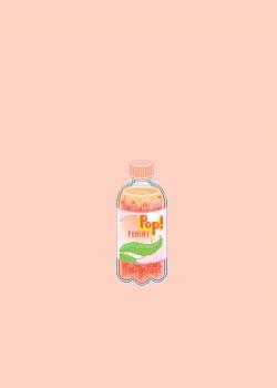 粉色小清新手绘插画高清手机壁纸