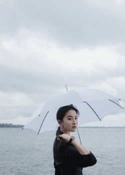 刘亦菲酷美西装写真图片