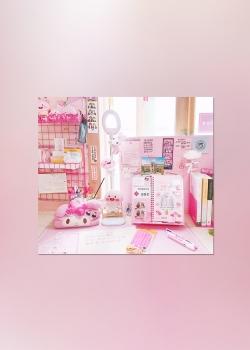 简约粉色小清新高清可爱手机壁纸图片