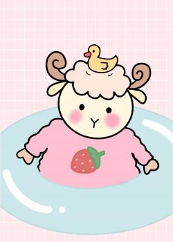 甜系软萌粉色可爱手机壁纸