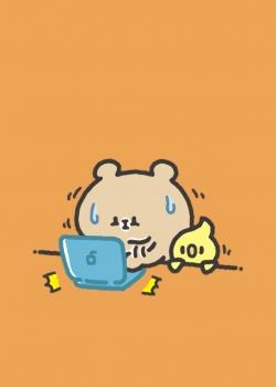 可爱小熊卡通插画高清手机壁纸
